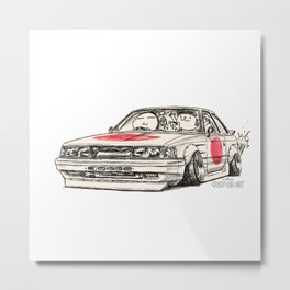 Crazy Car Art 0176 Metal Print