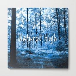 Natural High (blue) Metal Print