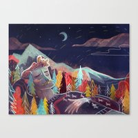 sleep Canvas Prints featuring Sleep by Karl James Mountford