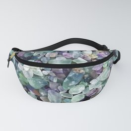 Vibrant Polished Glass Stones from the Great Lakes  Fanny Pack