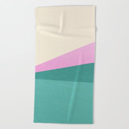 Stripe XIV Pink Summer Sunrise Beach Towel