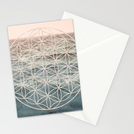 Mandala Flower of Life Sea Stationery Cards