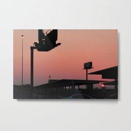 Sunset in Salt Lake Metal Print