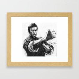 ip man pencil Framed Art Print