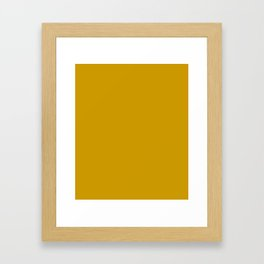 Chinese Gold - solid color Framed Art Print