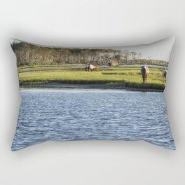 Chincoteague Ponies on Assateague Island Rectangular Pillow