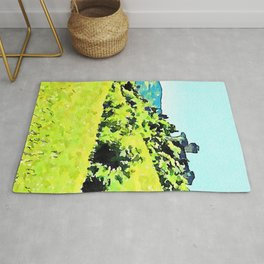 Brisighella: countryside landscape with castle and tower views Rug