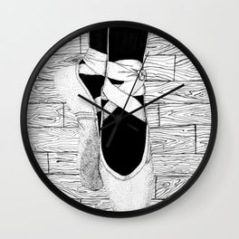 Pointillism Pointe Wall Clock
