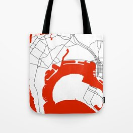 Point Loma  San Diego Map Tote Bag
