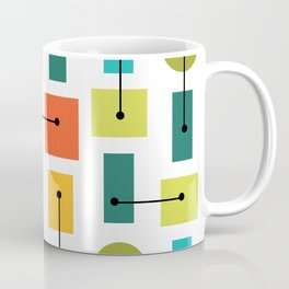 Atomic Age Simple Shapes Multicolored Coffee Mug