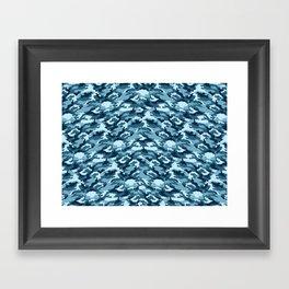 Winter camouflage Framed Art Print