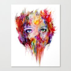 only your eyes can speak Canvas Print
