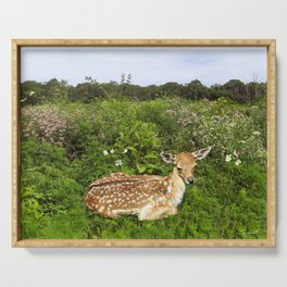 Fawn and Wildflowers Serving Tray