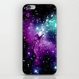 Eagle Nebula purple blue teal iPhone Skin