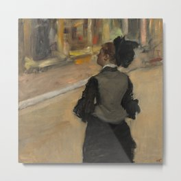 Woman Viewed from Behind (Visit to a Museum) Metal Print