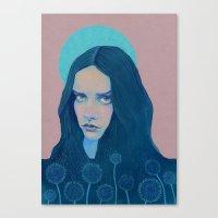 dandelion Canvas Prints featuring Dandelion by Natalie Foss