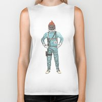 zissou Biker Tanks featuring Zissou In Space by Florent Bodart / Speakerine
