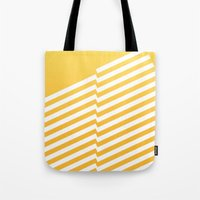 bands Tote Bags featuring Yellow Bands R. by blacknote