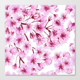 Cherry blossom pattern Canvas Print
