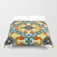 platypus Duvet Covers featuring Kaleidoscopic Australia's Animals by Julie's Fabrics & Thingummies