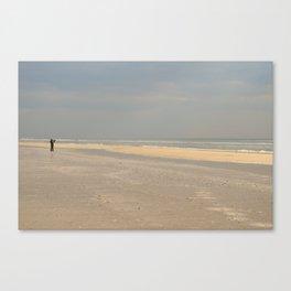 the photographer on the beach Canvas Print