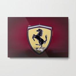 Close-Up of the Supercar Logo Metal Print