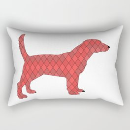 Red beagle Rectangular Pillow