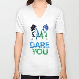 Double Dog Dare You Unisex V-Neck