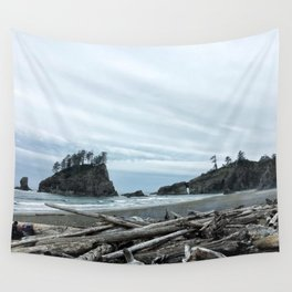 Rainy Day at Second Beach Wall Tapestry