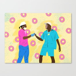 Tyler and Rocky Canvas Print