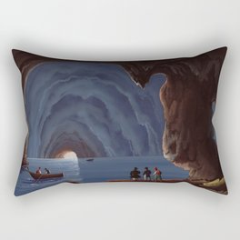 Grotta Azzurra - The Blue Grotto Capri Italia Rectangular Pillow