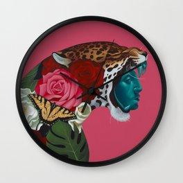 Jaguar Warrior Wall Clock