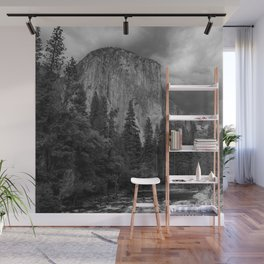 Yosemite National Park, El Capitan, Black and White Photography, Outdoors, Landscape, National Parks Wall Mural
