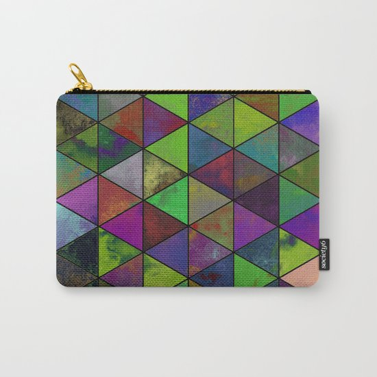 Textured Triangulation - Abstract, geometric triangles Carry-All Pouch