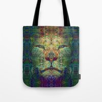 lion king Tote Bags featuring Lion King by Zandonai