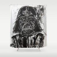 vader Shower Curtains featuring Vader by Ren Davis