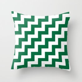 White and Cadmium Green Steps RTL Throw Pillow
