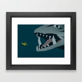 Gamera vs. Jiger Framed Art Print