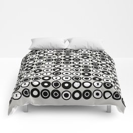 Op Art / Pop Art Alphabet Circles Comforters