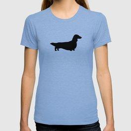 Longhaired Dachshund Silhouette T-shirt