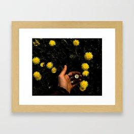 Black garden Framed Art Print