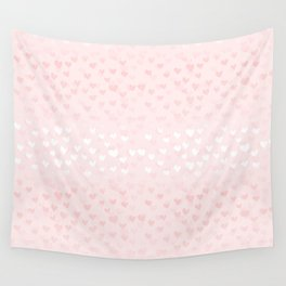 Hearts in light pink Wall Tapestry