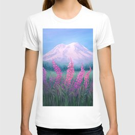 Fireweed Phenomenon on Mount Rainier T-shirt