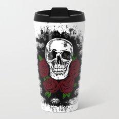 Skull and Rose Travel Mug