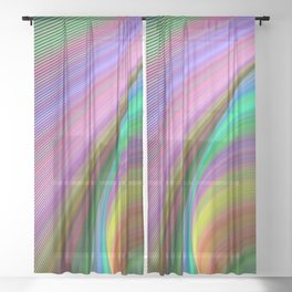 Rainbow dream Sheer Curtain