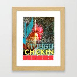 Tough Chicken Pieces Framed Art Print