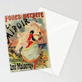 French belle epoque mime theatre advertising Stationery Cards