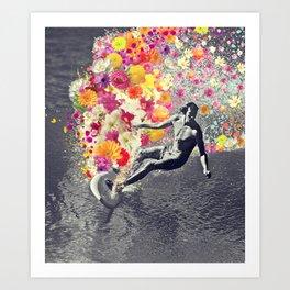 Flower surfing Art Print