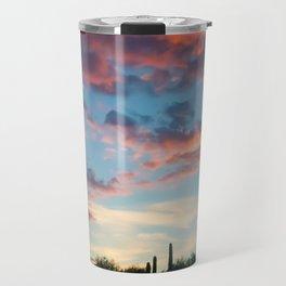Sunset in the Arizona Desert Travel Mug