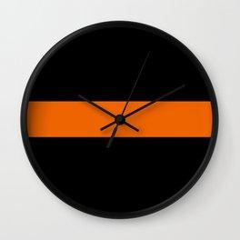 The Thin Orange Line Wall Clock